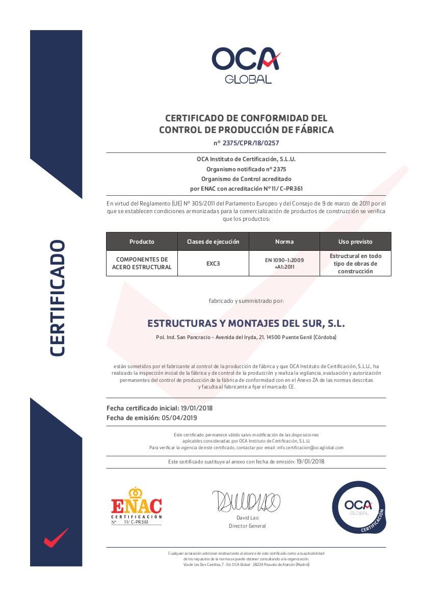2375_CPR_18_0257_Estructuras_Montajes_Sur